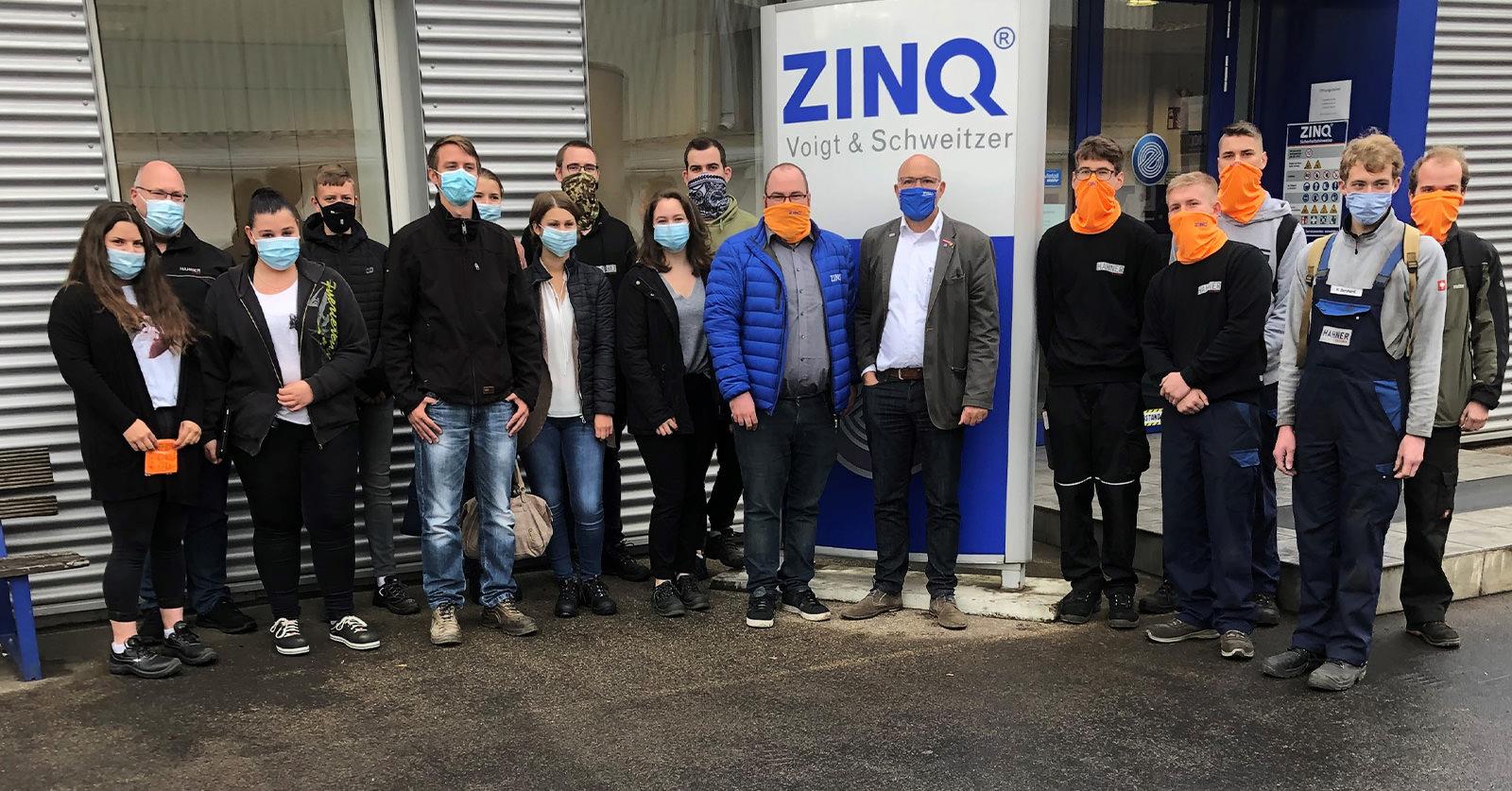 Hahner Technik Stahlbau-Infotage Mitarbeiter bei Verzinkereibesuch zum Feuerverzinken – Bernhard Hahner Blog