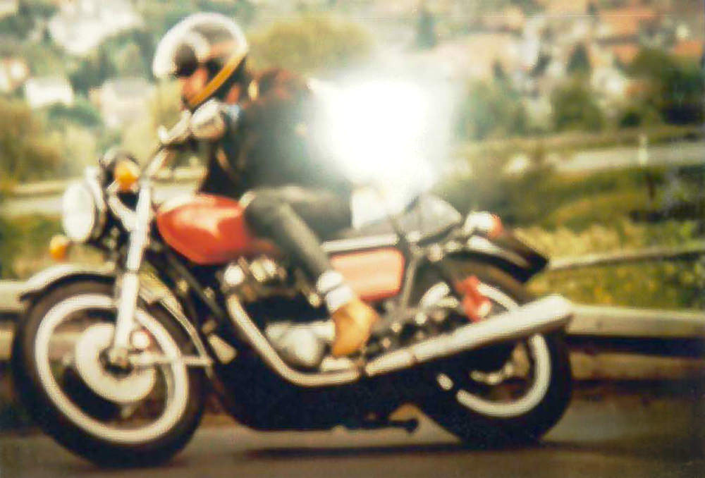 Bernhard Hahner auf Motorrad Historisches Foto Blog
